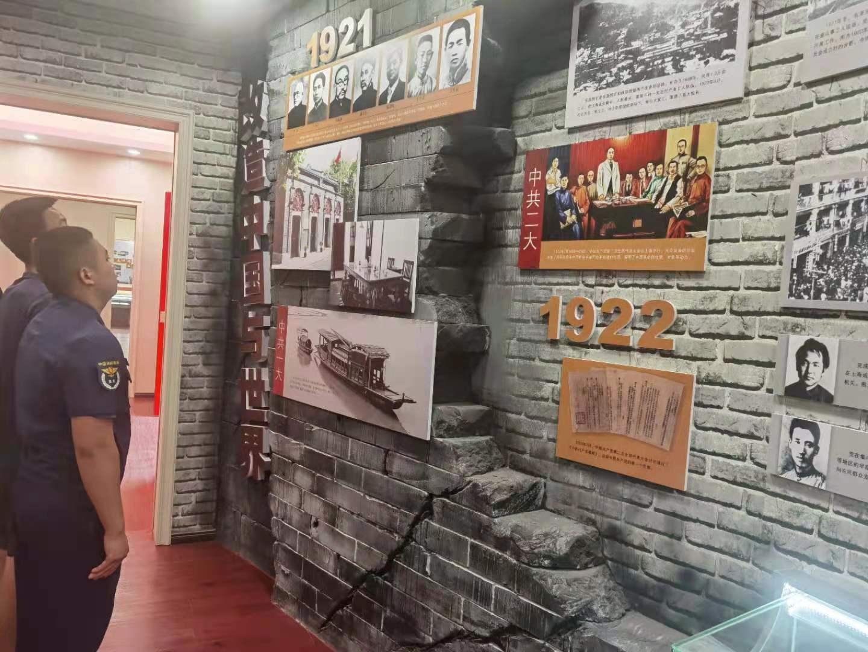 """传承红色基因 不忘入党初心——新余袁河大队开展""""红色走读""""活动"""